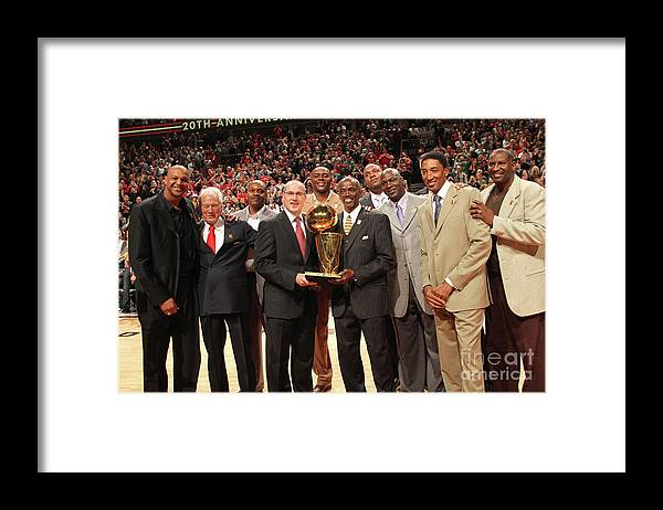Event Framed Print featuring the photograph Utah Jazz V Chicago Bulls by Ray Amati