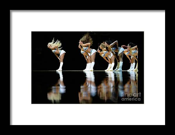 Nba Pro Basketball Framed Print featuring the photograph Utah Jazz V Denver Nuggets by Bart Young