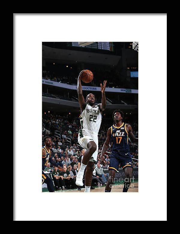 Nba Pro Basketball Framed Print featuring the photograph Utah Jazz V Milwaukee Bucks by Gary Dineen