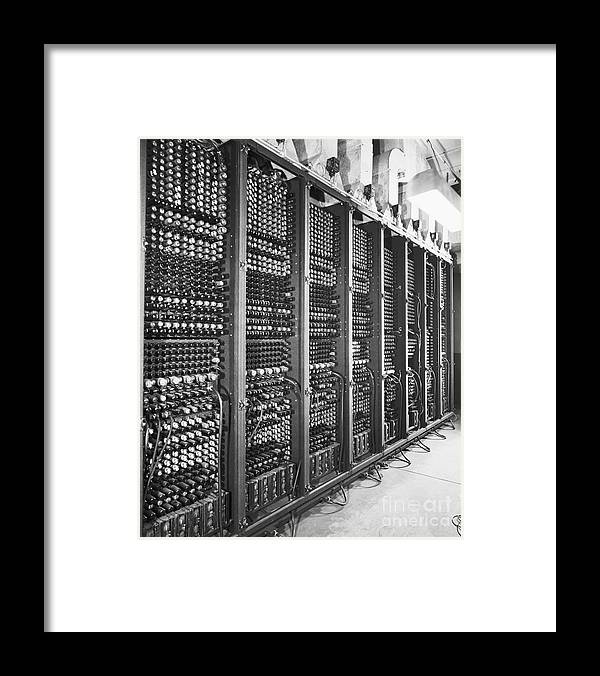 Computer Framed Print featuring the photograph Vacuum Tubes Of Eniac by Bettmann