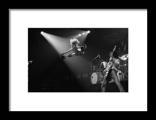 Singer Framed Print featuring the photograph Van Halen At The Rainbow by Fin Costello