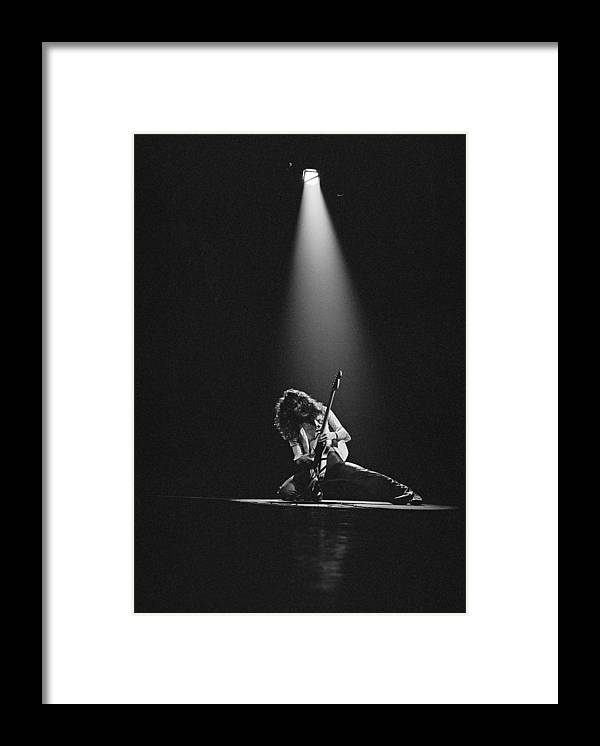 1980-1989 Framed Print featuring the photograph Van Halen Live At The Rainbow by Fin Costello