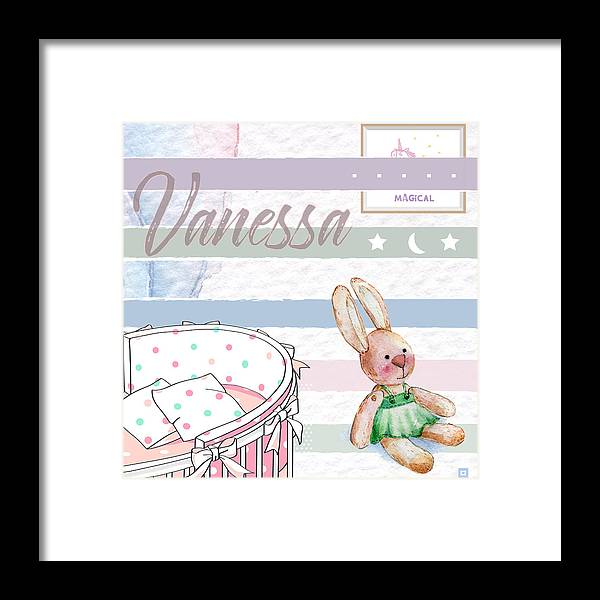 Framed Print featuring the digital art Vanessa by Claire Tingen