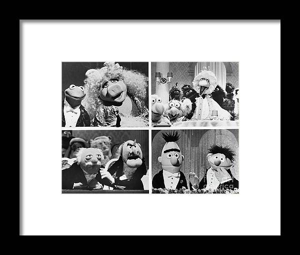 1980-1989 Framed Print featuring the photograph Various Muppets Scenes by Bettmann