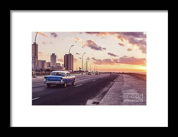 Latin America Framed Print featuring the photograph Vehicles On Road Against Sky by Sven Hartmann / Eyeem