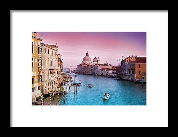 Arch Framed Print featuring the photograph Venice Canale Grande Italy by Dominic Kamp Photography