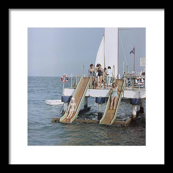 Child Framed Print featuring the photograph Venice Vacation by Slim Aarons