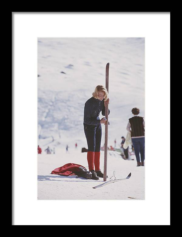 Skiing Framed Print featuring the photograph Verbier Skier by Slim Aarons