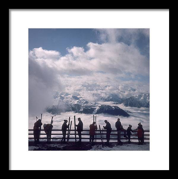 Scenics Framed Print featuring the photograph Verbier View by Slim Aarons