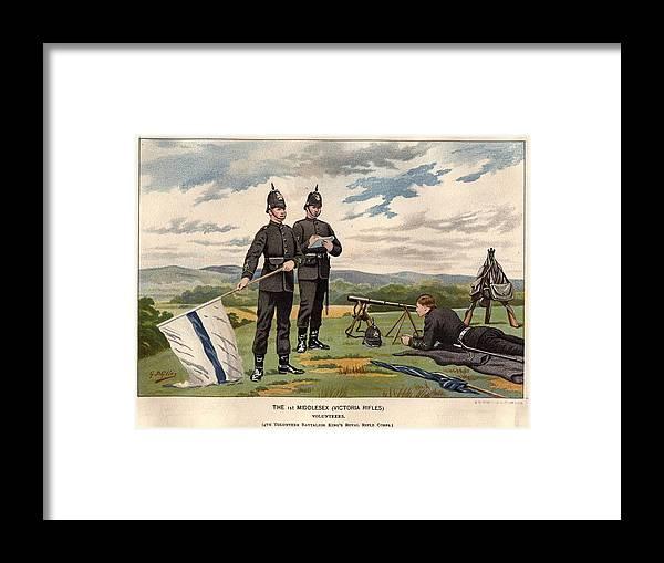 Rifle Framed Print featuring the digital art Victoria Rifles by Rischgitz
