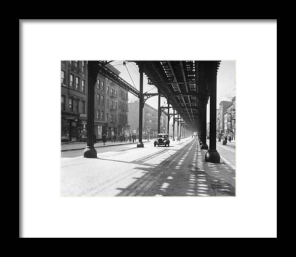 1930-1939 Framed Print featuring the photograph View From 38th St. And Second Ave by New York Daily News Archive