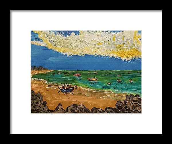 Quintus Curtius Framed Print featuring the painting View of Fortaleza by Quintus Curtius