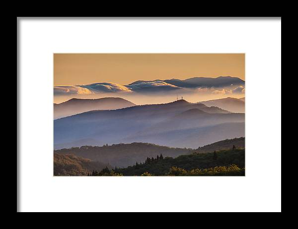 North Carolina Framed Print featuring the photograph View Of Frying Pan Mountain by Fine Art Images By Rob Travis Photography