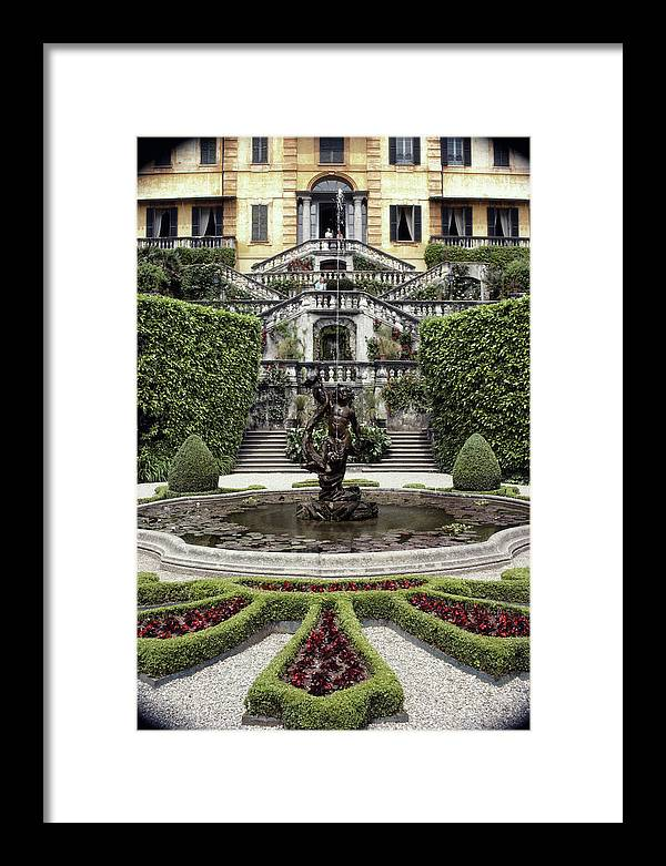 Tremezzo Framed Print featuring the photograph Villa Carlotta by Slim Aarons