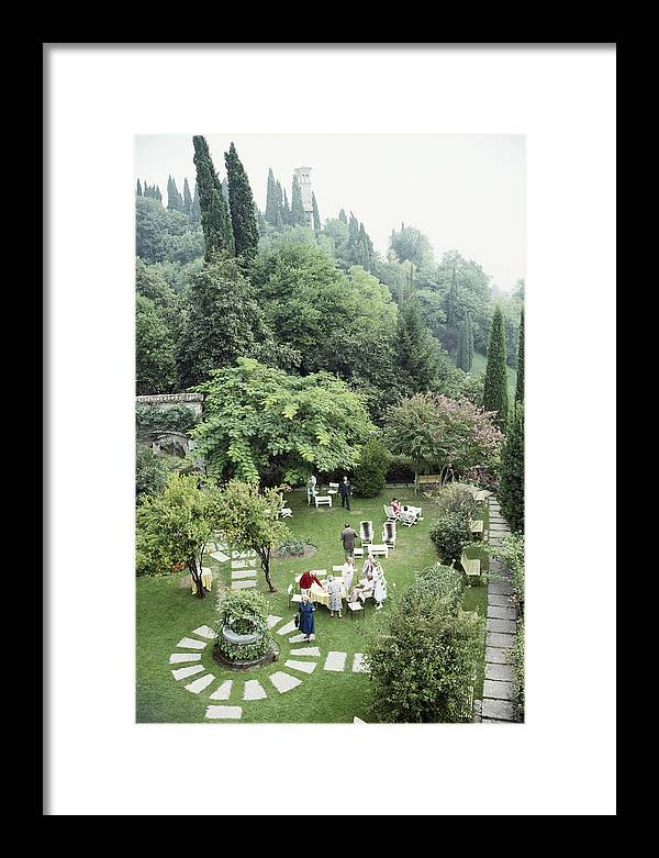 1980-1989 Framed Print featuring the photograph Villa Cipriani by Slim Aarons