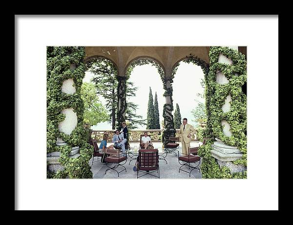 1980-1989 Framed Print featuring the photograph Villa Del Balbianello by Slim Aarons