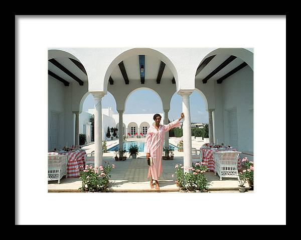 Arch Framed Print featuring the photograph Villa In Sotogrande by Slim Aarons