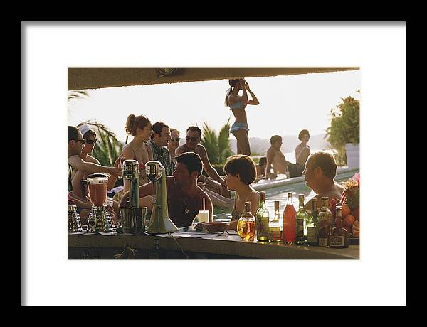 Spa Framed Print featuring the photograph Villa Vera by Slim Aarons
