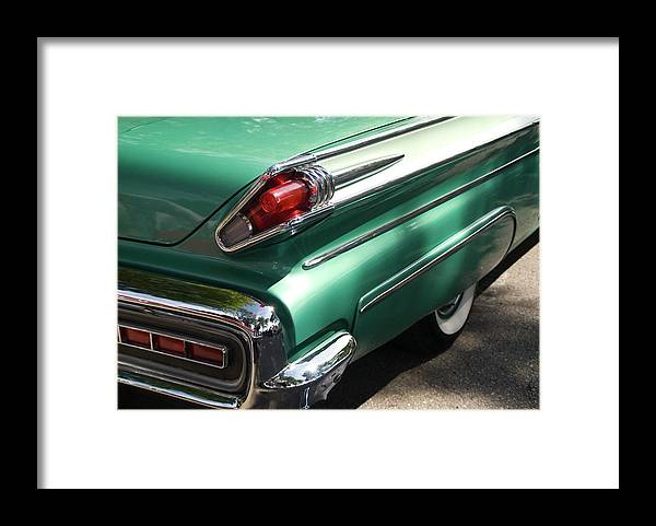 Cool Attitude Framed Print featuring the photograph Vintage Tail Fin by Sstop