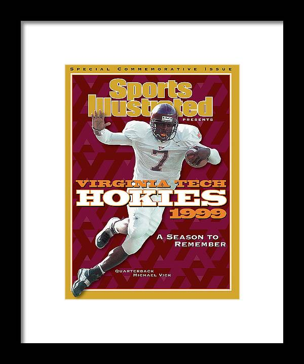 Motion Framed Print featuring the photograph Virginia Tech Hokies 1999 A Season To Remember Sports Illustrated Cover by Sports Illustrated