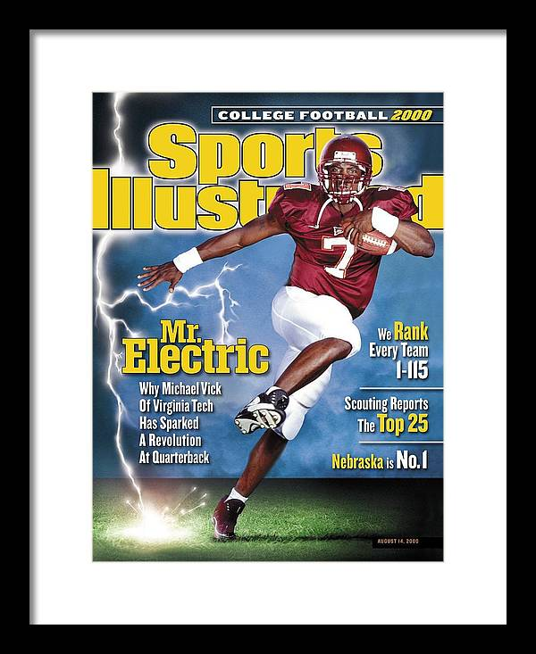 Sports Illustrated Framed Print featuring the photograph Virginia Tech Michael Vick Sports Illustrated Cover by Sports Illustrated