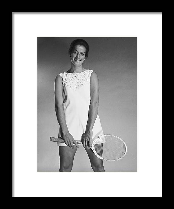 Tennis Framed Print featuring the photograph Virginia Wade by Chaloner Woods