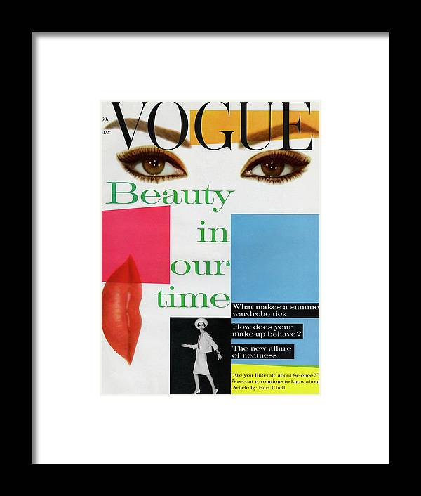 Fashion Framed Print featuring the photograph Vogue Magazine May 01, 1961 Cover by Vogue Staff