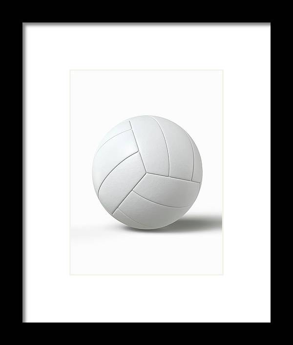 Simplicity Framed Print featuring the photograph Volleyball by Burazin