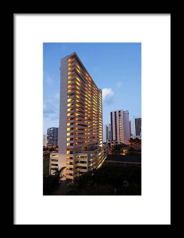 Honolulu Framed Print featuring the photograph Waikiki Morning by Slobo