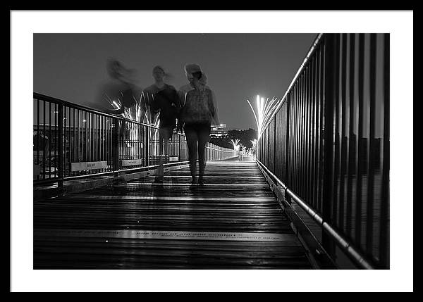Richmond Va Framed Print featuring the photograph Walking On The Tyler Potterfield Memorial Bridge by Doug Ash