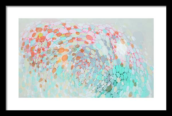 Abstract Framed Print featuring the painting Want To Go by Claire Desjardins