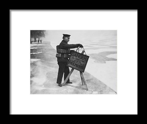 People Framed Print featuring the photograph Warning And Fine by Keystone