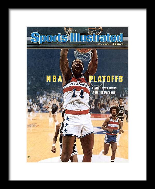 Magazine Cover Framed Print featuring the photograph Washington Bullets Elvin Hayes, 1978 Nba Eastern Conference Sports Illustrated Cover by Sports Illustrated