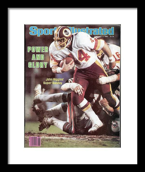 1980-1989 Framed Print featuring the photograph Washington Redskins John Riggins, Super Bowl Xvii Sports Illustrated Cover by Sports Illustrated