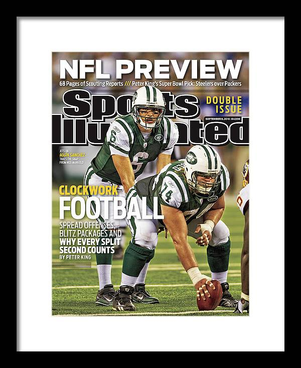 Magazine Cover Framed Print featuring the photograph Washington Redskins V New York Jets Sports Illustrated Cover by Sports Illustrated