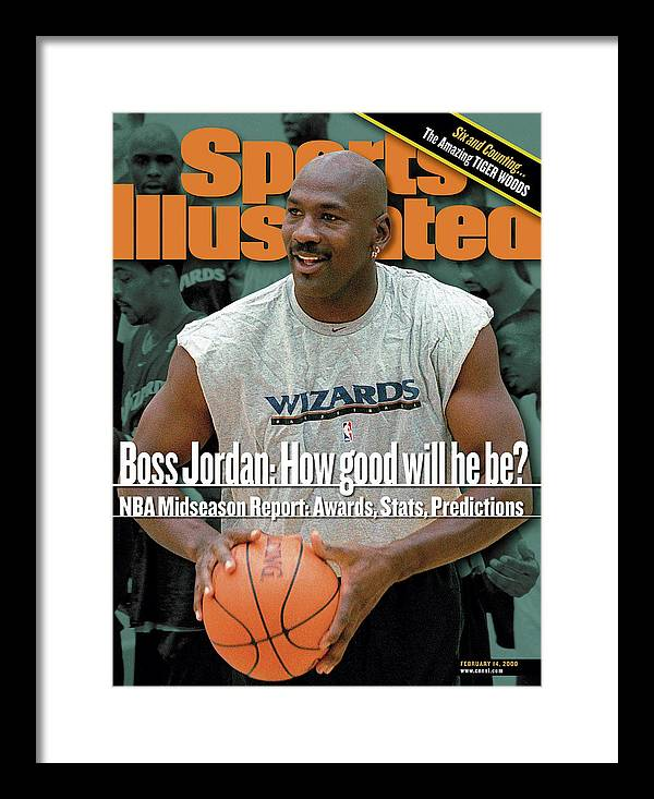 Magazine Cover Framed Print featuring the photograph Washington Wizards Executive Michael Jordan Sports Illustrated Cover by Sports Illustrated