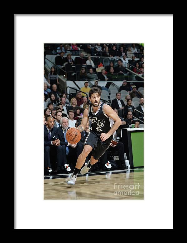 Nicolás Laprovittola Framed Print featuring the photograph Washington Wizards V San Antonio Spurs by Mark Sobhani