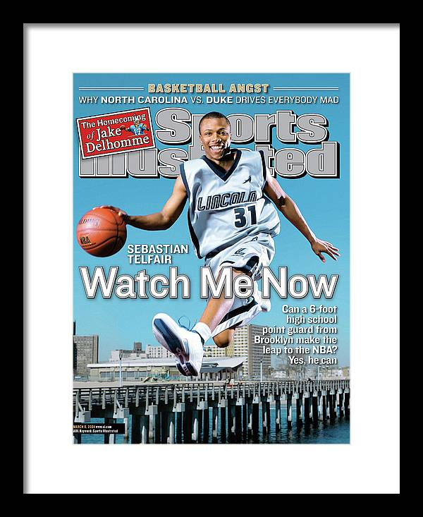 Point Guard Framed Print featuring the photograph Watch Me Now Sebastian Telfair Sports Illustrated Cover by Sports Illustrated
