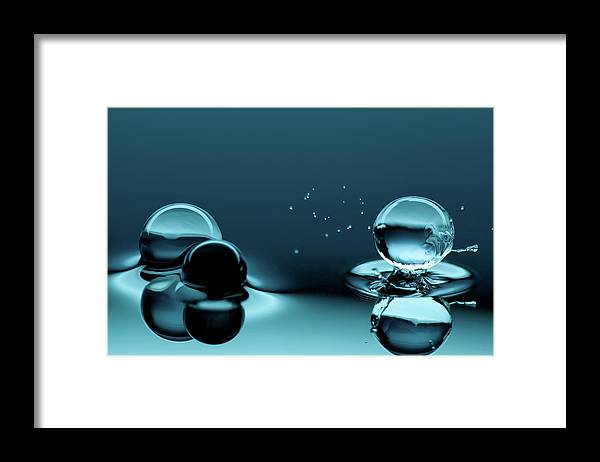 Atlanta Framed Print featuring the photograph Water Balls by Alex Koloskov Photography