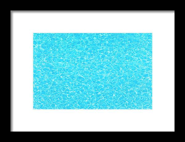 Cool Attitude Framed Print featuring the photograph Water Wave Pattern Of Swimming Pool by Anddraw