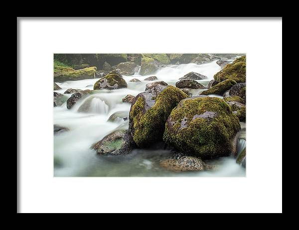 Tranquility Framed Print featuring the photograph Waterfall, Bc, Canada by Paul Souders