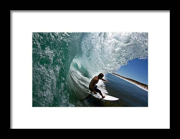 Expertise Framed Print featuring the photograph Wave by Mike Riley