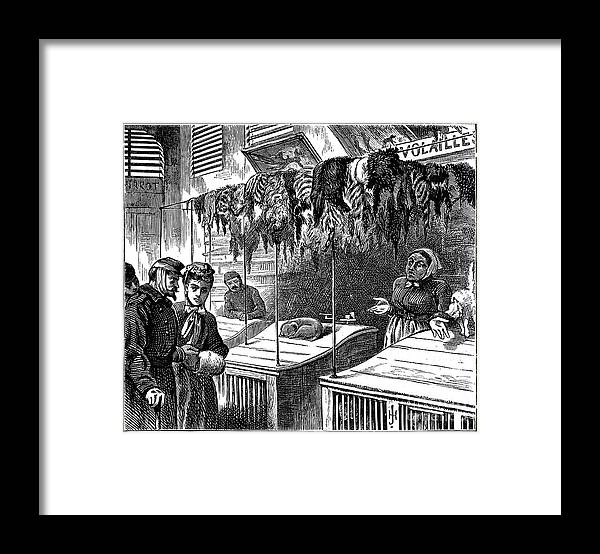 Engraving Framed Print featuring the drawing We Have No More Than That Sir, 1871 by Print Collector