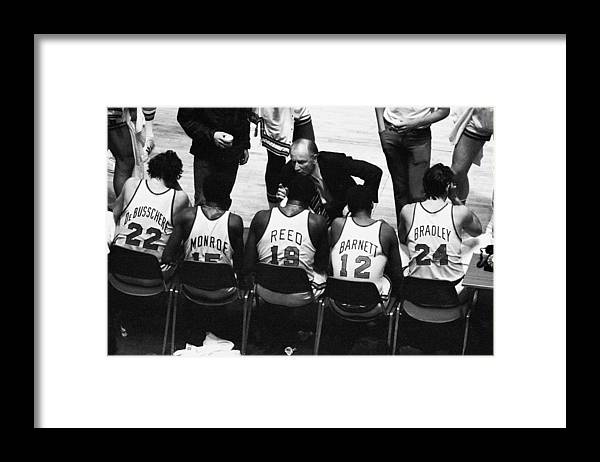 Nba Pro Basketball Framed Print featuring the photograph We Prefer Knicks 2 To 1. Coach Red by New York Daily News Archive