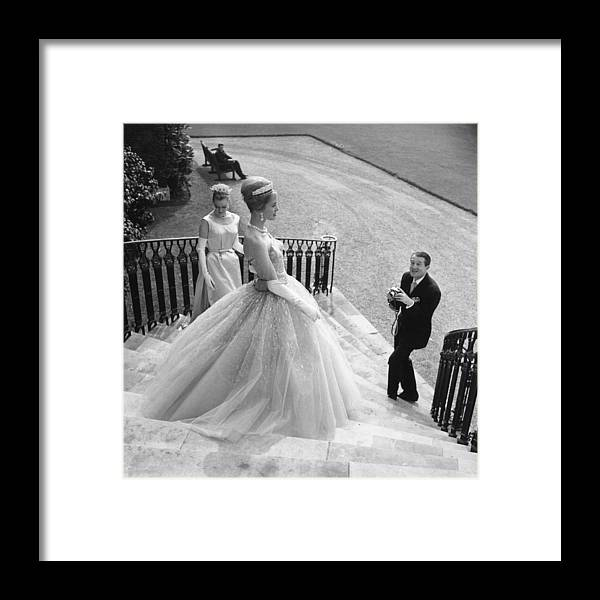 People Framed Print featuring the photograph Wedding Dress by Evening Standard