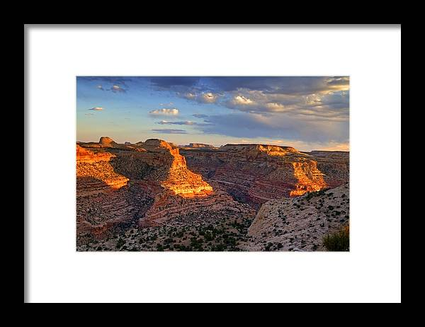 Scenics Framed Print featuring the photograph Wedge Overlook by Yvonne Baur