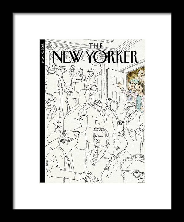 Welcome To Congress Framed Print featuring the drawing Welcome To Congress by Barry Blitt