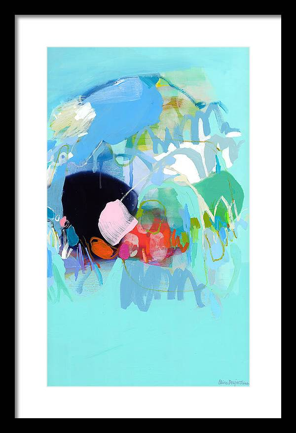 Abstract Framed Print featuring the painting West Coast Wanderlust by Claire Desjardins