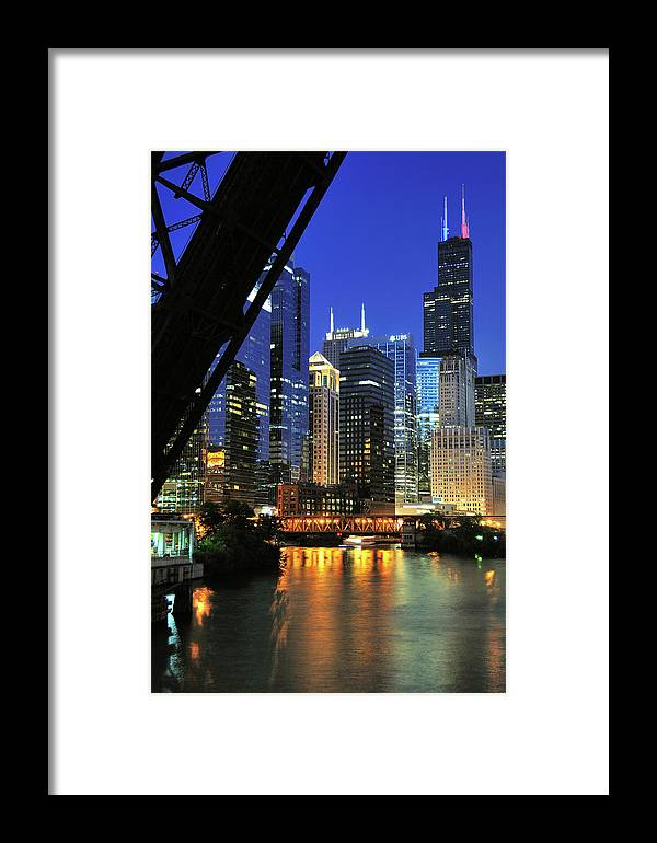 Downtown District Framed Print featuring the photograph West Loop From Kinzie Street Bridge by Bruce Leighty