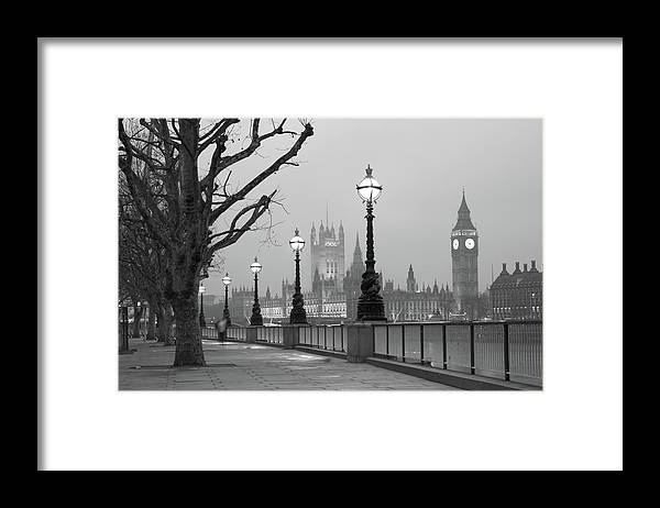 Scenics Framed Print featuring the photograph Westminster At Dawn, London by Gp232
